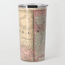 Vintage Map of Arizona and New Mexico (1866) Travel Mug