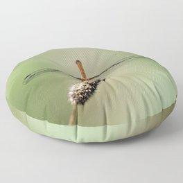 Autumn Meadowhawk Dragonfly Floor Pillow