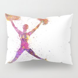 young woman cheerleader 02 Pillow Sham