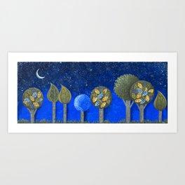 Night Grove Art Print