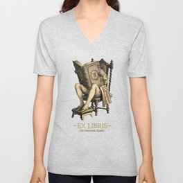 Ex Libris 'The Inveterate Reader' Unisex V-Neck