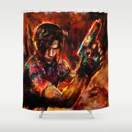 leon kennedy Shower Curtain