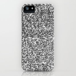 Silver sequin   iPhone Case