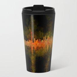 Toronto Canada City Skyline Hq v02 dark Travel Mug
