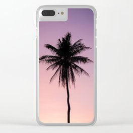 palm the tree Clear iPhone Case