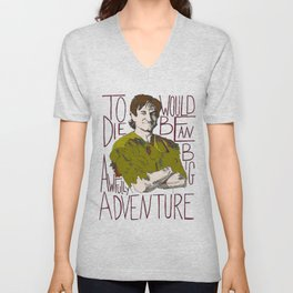 Robin Williams Hook Peter Pan Quote Unisex V-Neck