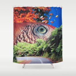 Keep Your Eye on the Road Shower Curtain