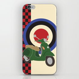 Scooter and mod symbols. iPhone Skin
