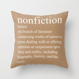 Nonfiction Definition Throw Pillow