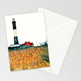 Fire Island Lighthouse HDR Photography Stationery Cards