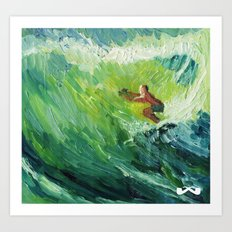 Costa Rica Surf. Art Print