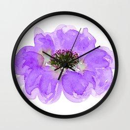 Purple Lavender Graphic Art Flower Contemporary Design Wall Clock