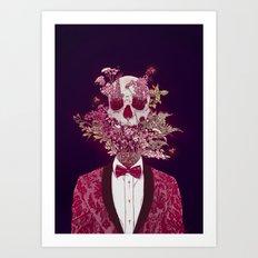 Skull Blossom Art Print