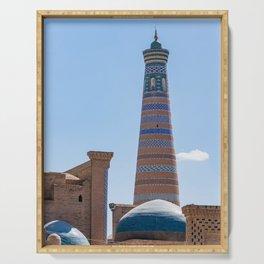 Islam Khodja Minaret in Khiva Serving Tray