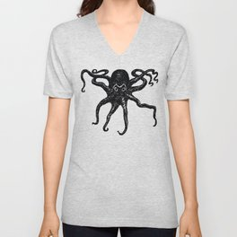 From the Deep - Octopus by Seasons K Designs Unisex V-Neck