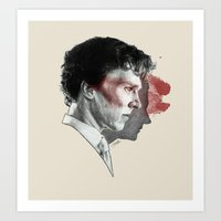 johnlock Art Prints featuring Johnlock by Cécile Pellerin