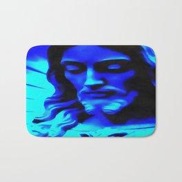 Blue Jesus Bath Mat