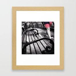 Chubby Fallin' Framed Art Print