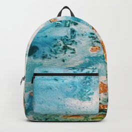 Sea and golden sand Backpack