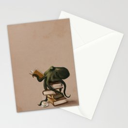 Well-Read Octopus Stationery Cards