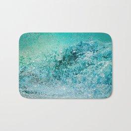 Turquoise Wave - Blue Water Scene Bath Mat