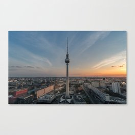 TV Tower at Sunset Canvas Print