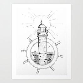 Light and waves Art Print
