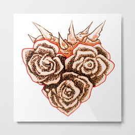 Thorny Heart Metal Print