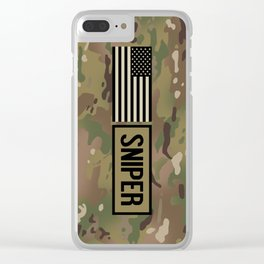 Military: Sniper (Camo) Clear iPhone Case