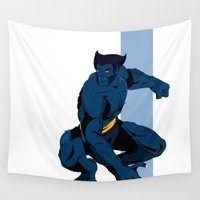 beast Wall Tapestries featuring Beast by Andrew Formosa