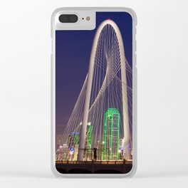 Arched Pathway to Dallas in Lights Clear iPhone Case