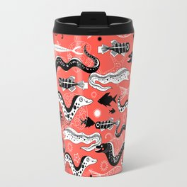 Beautiful graphic illustration of the sea snake, Moray Travel Mug