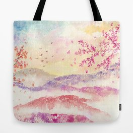 Loose Landscape and Branches Watercolor Tote Bag