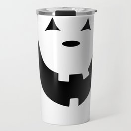 Happy Jack O'Lantern Face Travel Mug