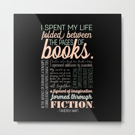 Folded Between the Pages of Books - Pastel Metal Print