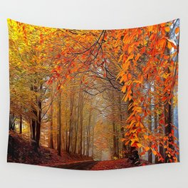 Autumn Parade Wall Tapestry