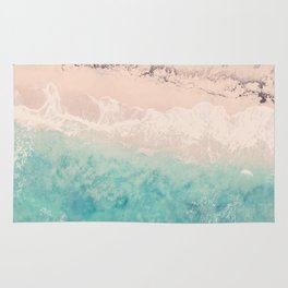 Aerial sea photography, exotic beach, fine art, wanderlust, coral reef, tropical landscape, summer Rug