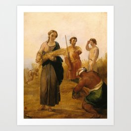 George Frederic Watts 1817–1904   Ruth and Boaz Art Print