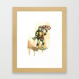 Playful Mikey Framed Art Print