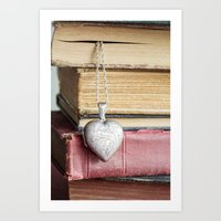 college Art Prints featuring College Romance by Colleen Farrell