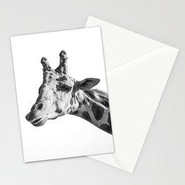 Giraffe Animal Photography Minimalism | Black and White Art Stationery Cards