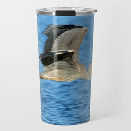 Skimming the lake Travel Mug