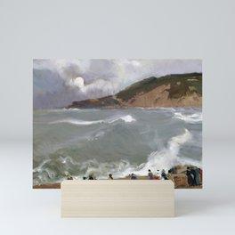 Joaquín Sorolla y Bastida Breakwater, San Sebastian Mini Art Print