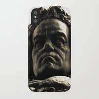beethoven iPhone & iPod Cases featuring Beethoven Bust by Doug Bonebrake