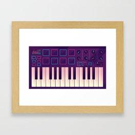 Neon MIDI Controller Framed Art Print