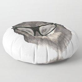 Hipster Wolf Floor Pillow