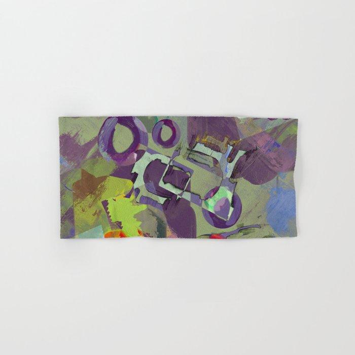 Living In A Purple Dream - Abstract, eclectic, random, purple. lilac, pastel artwork Hand & Bath Towel