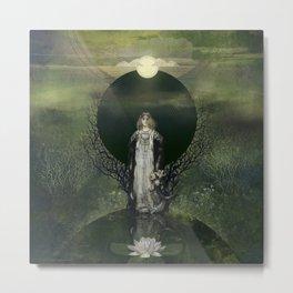 Midnight Lotus Metal Print