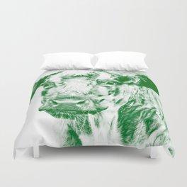 Ardnmurchan Coo - Green Duvet Cover