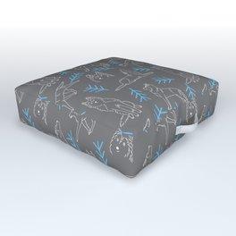 Siberian Husky Pattern Outdoor Floor Cushion